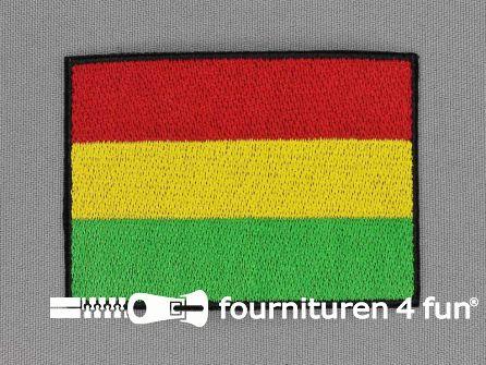 Applicatie 53x75mm rood geel groen - vlag