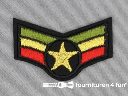 Army / Space applicatie 54x34mm rang strepen
