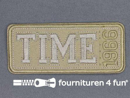 Applicatie 86x37mm Time 1966 zand beige