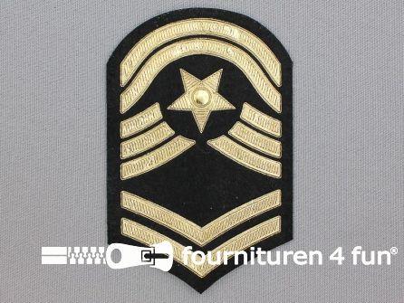 Army applicatie 70x108mm militaire schouder patch - goud metallic