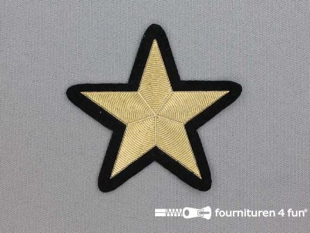 Ster applicatie 70x70mm goud metallic
