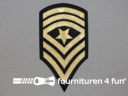 Army applicatie 130x70mm militaire schouder patch - goud metallic