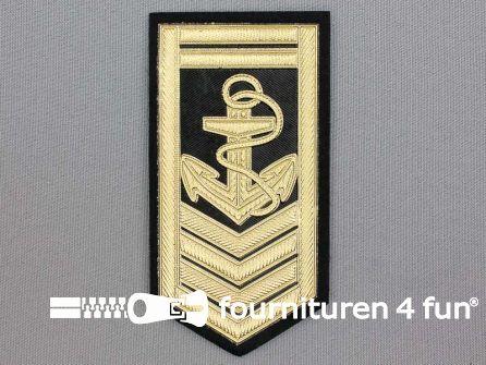 Army applicatie 57x110mm militaire schouder patch - goud metallic