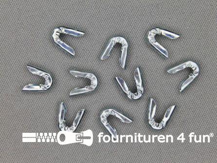 Baleinenband kapjes 7mm metaal 10 stuks
