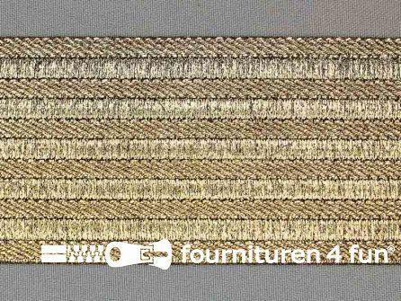 Goud- en zilver elastiek 60mm goud - zwart