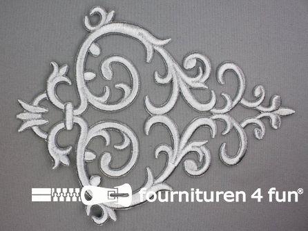 Barok applicatie 180x235mm zilver