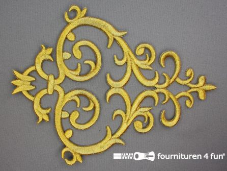 Barok applicatie 180x235mm goud