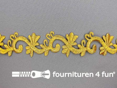 Barok applicatie 40mm goud - per meter