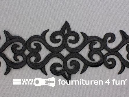 Barok applicatie 80mm zwart - per meter