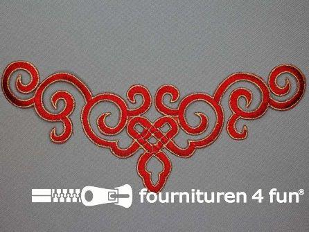 Goud - rood barok applicatie 245x95mm