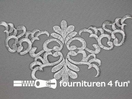 Barok applicatie 200x98mm zilver