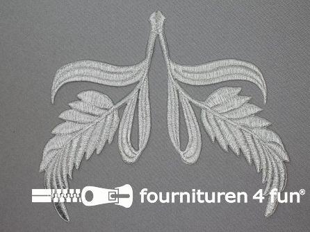Barok applicatie 160x160mm zilver