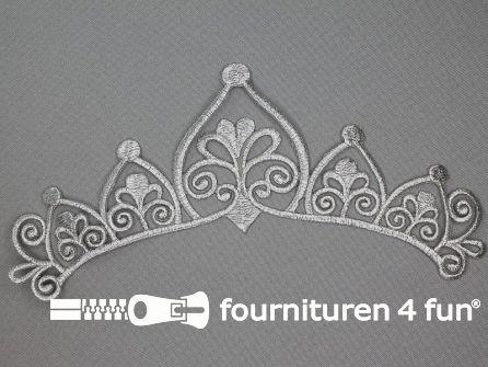 Barok applicatie 222x80mm zilver