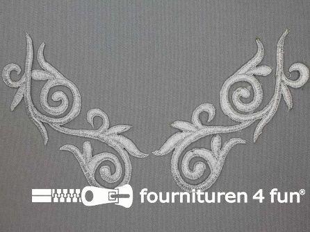Barok applicatie 133x53mm zilver per paar