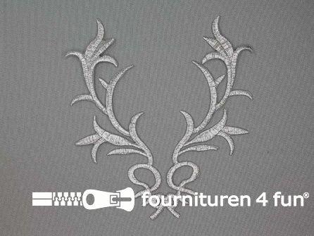 Barok applicatie 145x115mm zilver