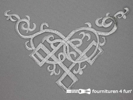 Barok applicatie 135x170mm zilver