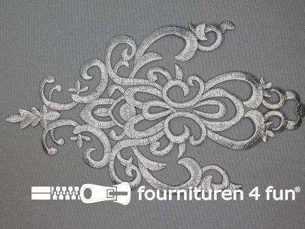 Barok applicatie 250x140mm zilver