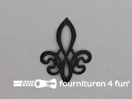 Barok applicatie 43x56mm zwart