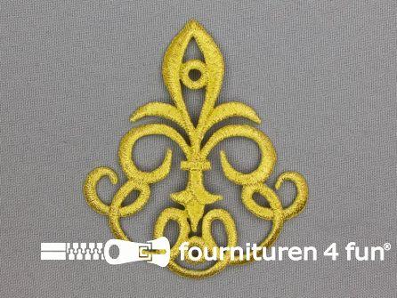 Barok applicatie 82x72mm goud