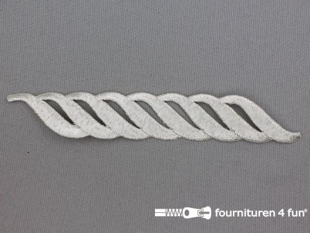 Barok applicatie 155x23mm zilver