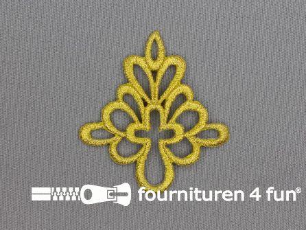 Barok applicatie 55x60mm goud