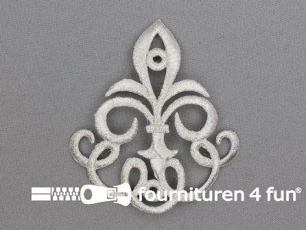 Barok applicatie 82x72mm zilver