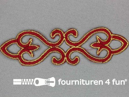 Goud - bordeaux barok applicatie 121x34mm