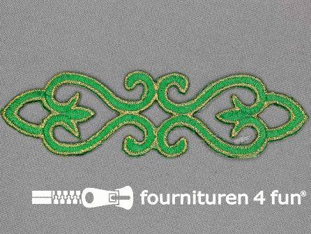 Goud - groen barok applicatie 121x34mm