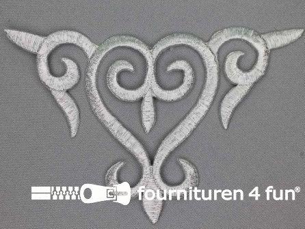Barok applicatie 138x88mm zilver