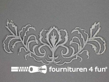 Barok applicatie 168x65mm zilver