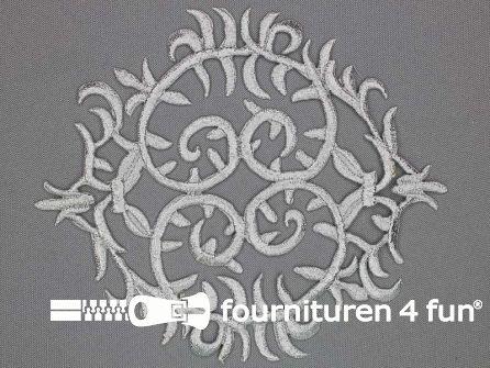 Barok applicatie 143x125mm zilver