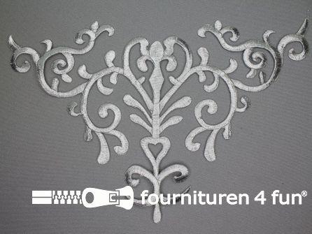 Barok applicatie 170x275mm zilver