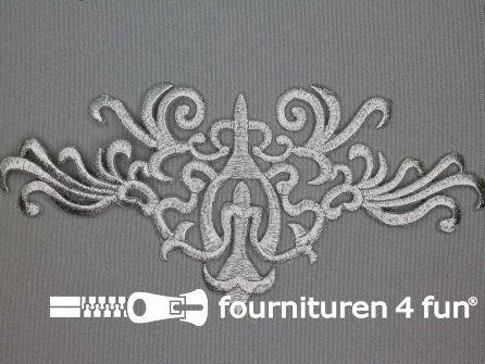 Barok applicatie 200x91mm zilver