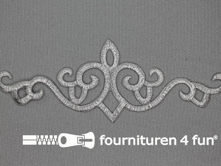 Barok applicatie 180x66mm zilver