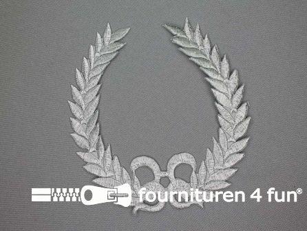 Barok applicatie 140x130mm zilver