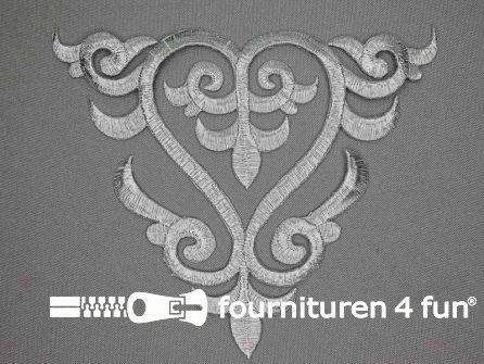 Barok applicatie 143x175mm zilver