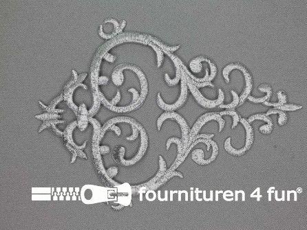 Barok applicatie 100x140mm zilver