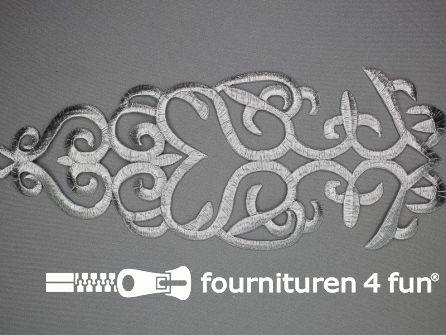 Barok applicatie 285x100mm zilver