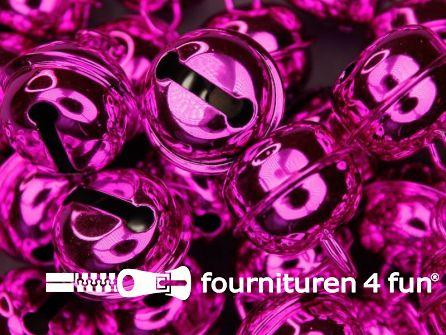 Belletjes 22mm fuchsia roze 5 stuks