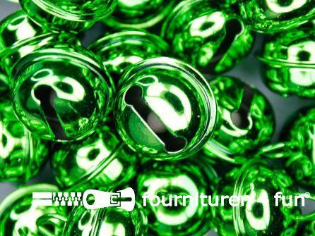 Belletjes 22mm groen 5 stuks