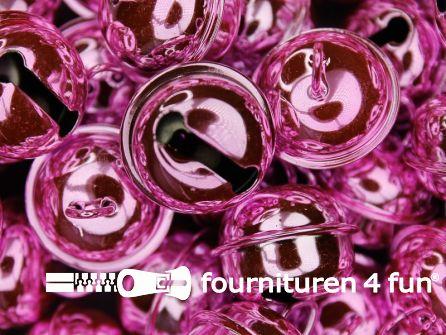 Belletjes 22mm licht roze 5 stuks