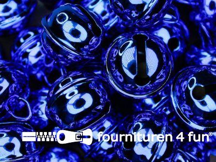 Belletjes 22mm donker kobalt blauw 5 stuks