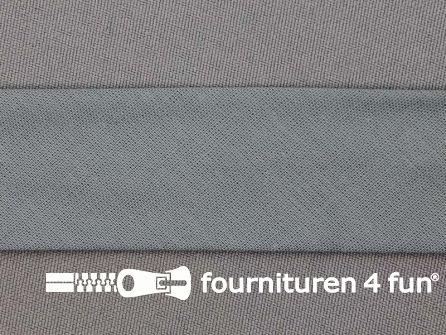 Rol 25 meter katoenen biasband 30mm khaki grijs