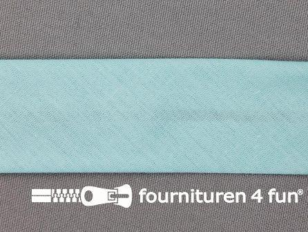 Rol 25 meter katoenen biasband 30mm mint groen