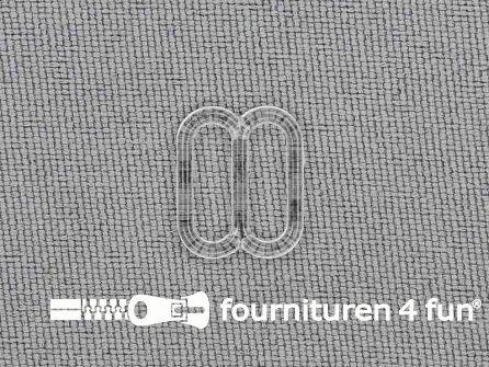5 Stuks kunststof verstel schuifje transparant 10mm