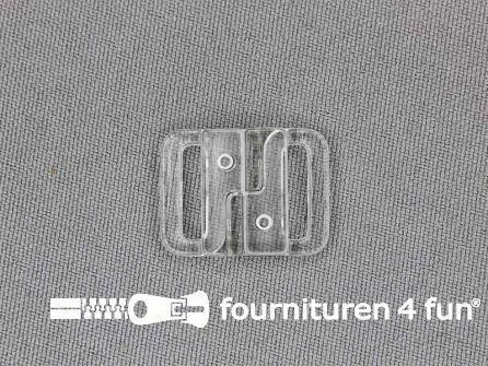 Bikini sluiting kunststof transparant 13mm