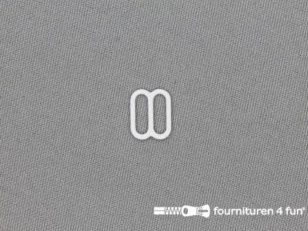 5 Stuks metalen verstel schuifje wit 10mm