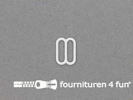 5 Stuks metalen verstel schuifje wit 12mm