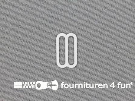 5 Stuks metalen verstel schuifje wit 16mm