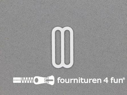 5 Stuks metalen verstel schuifje wit 20mm